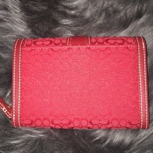 Coach Bags - NWT Authentic Coach Soho Mini-sig Red wallet